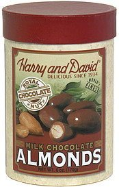 milk chocolate almonds Harry and David Nutrition info