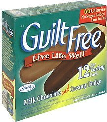 milk chocolate and creamy fudge bars variety pack Guilt Free Nutrition info