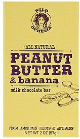 milk chocolate bar peanut butter & banana Wild Ophelia Nutrition info