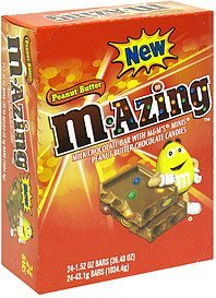 milk chocolate bar with m&m's minis peanut butter chocolate candies M-Azing Nutrition info