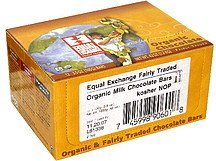 milk chocolate bars organic Equal Exchange Nutrition info