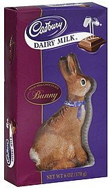 milk chocolate bunny solid Cadbury Nutrition info