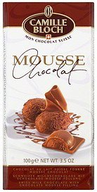 milk chocolate chocolate mousse Camille Bloch Nutrition info