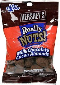 milk chocolate cocoa almonds Really Nuts! Nutrition info