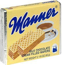milk chocolate cream filled wafers Manner Nutrition info