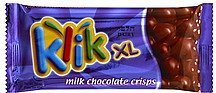 milk chocolate crisps Klik Nutrition info