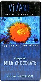 milk chocolate organic Vivani Nutrition info