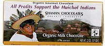 milk chocolate organic Shaman Chocolates Nutrition info