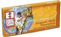 milk chocolate with ground hazelnuts, organic Equal Exchange Nutrition info