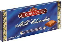 milk chocolate A. Korkunov Nutrition info
