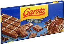 milk chocolate Garoto Nutrition info