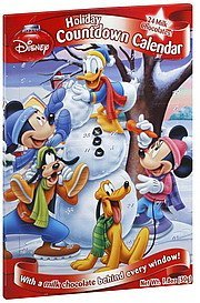 milk chocolates holiday countdown calendar, disney mickey and friends Flix Candy Nutrition info