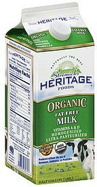milk fat free, organic Stremicks Heritage Foods Nutrition info