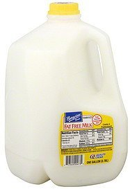 milk fat free Bayview Farms Nutrition info