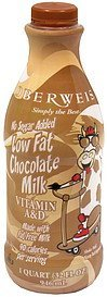 milk low fat, chocolate, no sugar added Oberweis Nutrition info