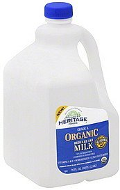 milk organic, reduced fat Stremicks Heritage Foods Nutrition info