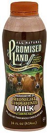 milk reduced fat 2%, midnight chocolate Promised Land Nutrition info