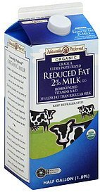 milk reduced fat 2%, organic Naturally Preferred Nutrition info