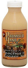 milk reduced fat 2%, peaches n' cream Promised Land Nutrition info