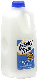 milk reduced fat, 2% Country Fresh Nutrition info