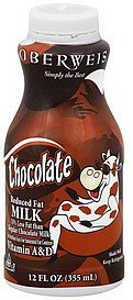 milk reduced fat, chocolate Oberweis Nutrition info