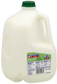 milk skim, fat free American Fare Nutrition info