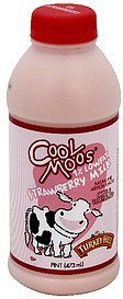 milk strawberry, 1% lowfat Cool Moos Nutrition info