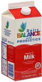 milk vitamin d, with probiotics Dairy Balance Nutrition info