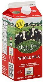 milk whole Grass Point Farms Nutrition info