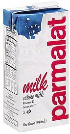 milk whole Parmalat Nutrition info