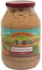 minced garlic in water Gilroy Farms Nutrition info
