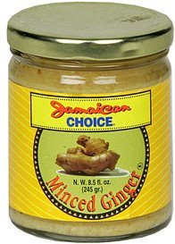minced ginger Jamaican Choice Nutrition info