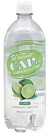 mineral water sparkling, lime Cap 10 Nutrition info