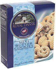 mini butter cookies Royal Dansk Nutrition info
