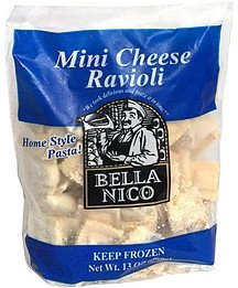 mini cheese ravioli Bella Nico Nutrition info