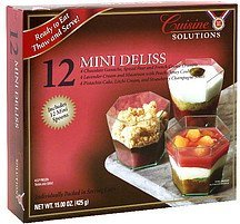 mini deliss Cuisine Solutions Nutrition info