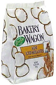 mini iced molasses cookies Bakery Wagon Nutrition info