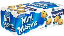 mini muffins blueberry Stone Creek Bakers Nutrition info