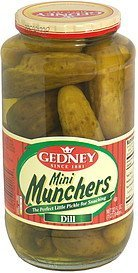 mini munchers dill Gedney Nutrition info