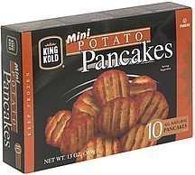 mini potato pancakes King Kold Nutrition info