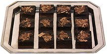 mini square brownies House of Fine Chocolates Nutrition info