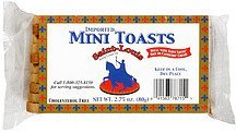 mini toasts imported Saint-Louis Nutrition info