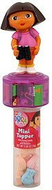 mini topper with fruity candy and stickers, nick jr. dora the explorer Frankford Candy & Chocolate Company Nutrition info