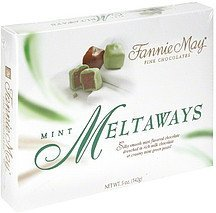 mint meltaways Fannie May Nutrition info