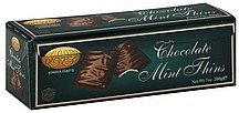 mint thins chocolate Paskesz Nutrition info