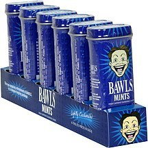 mints lightly carbonated Bawls Nutrition info