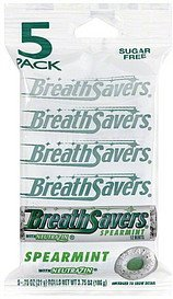 mints sugar free, spearmint Breath Savers Nutrition info