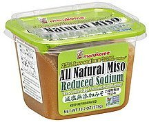 miso all natural, reduced sodium Marukome Nutrition info