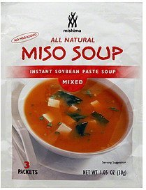miso soup mixed Mishima Nutrition info