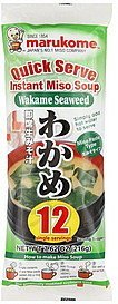 miso soup wakame seaweed, instant Marukome Nutrition info